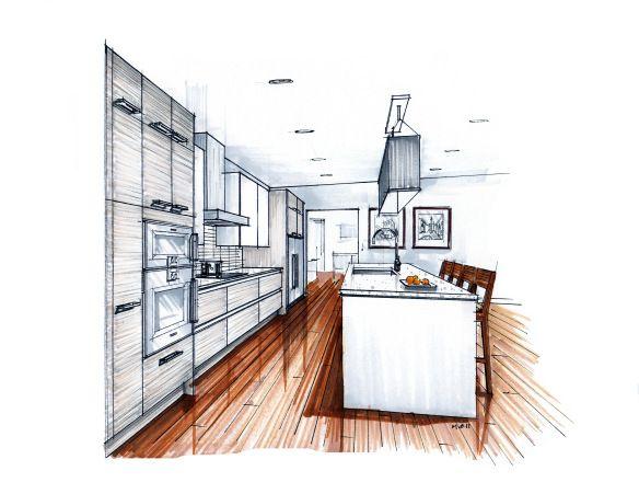 sketch köök